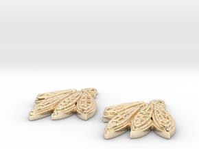 Blackhawks Earrings in 14k Gold Plated Brass