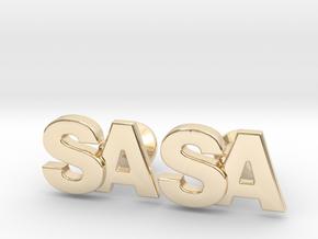 Monogram Cufflinks SA in 14k Gold Plated Brass