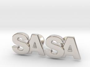 Monogram Cufflinks SA in Rhodium Plated Brass