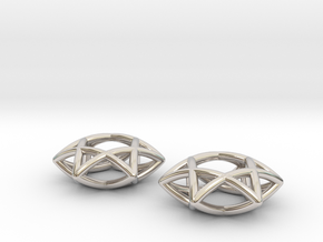 Star Of David earrings (pair) in Platinum
