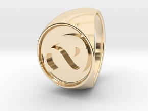 Custom Signet Ring 3 in 14k Gold Plated Brass