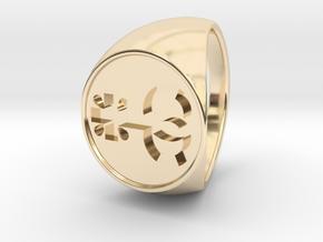 Custom Logo1 Signet Ring in 14k Gold Plated Brass