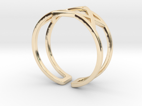 Star Of David Ring in 14k Gold Plated Brass