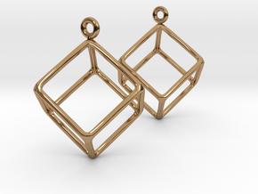 Earth earrings in Polished Brass