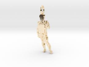 Digital David Pendant in 14k Gold Plated Brass