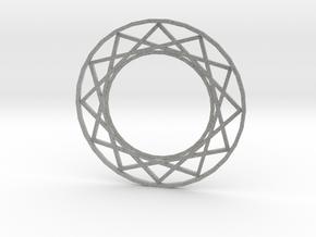 Magic Circle Necklace in Metallic Plastic