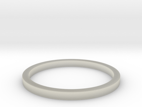 Minimalist Spacer Ring (just under 2mm) Size 5 in Transparent Acrylic
