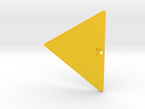 Geod 500 Glass Wing Insert in Yellow Processed Versatile Plastic