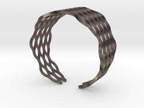 Mesh Bracelet - Large in Polished Bronzed Silver Steel