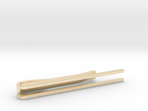 Minimalist Tie Bar - Parallels in 14k Gold Plated Brass
