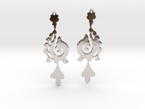 Dragon Earrings in Rhodium Plated Brass