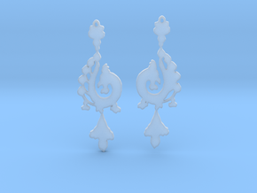 Dragon Earrings in Smooth Fine Detail Plastic