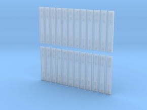 1:43.5 Decauville Type 4 Channel Tie - 24 Pieces in Smooth Fine Detail Plastic