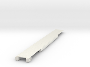 N scale Panorama Car Floor in White Natural Versatile Plastic