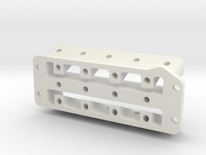 HD 4 Cylinder Head in White Natural Versatile Plastic