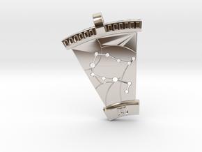 Gemini Constellation Pendant in Rhodium Plated Brass