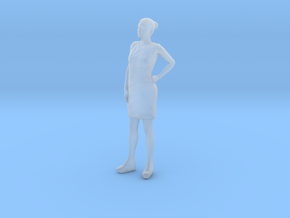 Woman Standing 16th in Smooth Fine Detail Plastic
