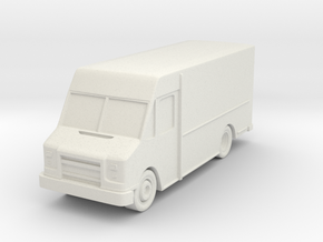 Delivery Truck At N Scale in White Natural Versatile Plastic