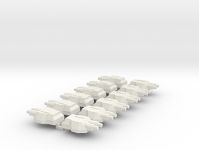 Upscaled Turrets For Ltinusa in White Strong & Flexible