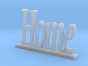 """Letters 'Home' - 7.5cm / 3.00"""" in Smooth Fine Detail Plastic"""