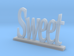 "Letters 'Sweet' 7.5cm / 3.00"" in Smooth Fine Detail Plastic"