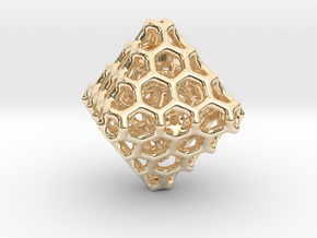 Octa Comb - 25mm in 14K Yellow Gold