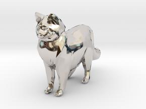 Ragdoll Kitty Toy Charm by Cindi (Copyright 2015) in Platinum