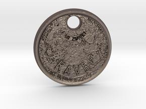 ZWOOKY Style 60 Sample - keychain moon in Polished Bronzed Silver Steel