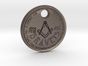 ZWOOKY Style 69 Sample - keychain loge in Polished Bronzed Silver Steel
