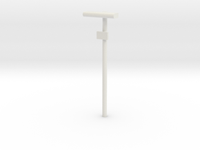 DSB Stations lampe med lille undertavle 1/87 in White Strong & Flexible
