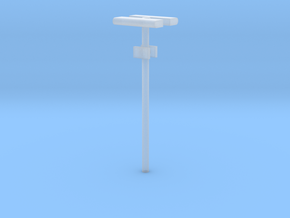 DSB Stations lampe (dobbelt) med lille undertavle  in Smooth Fine Detail Plastic
