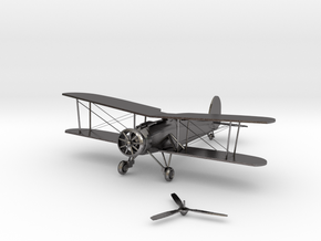Ww1 plane Fighter in Polished Nickel Steel