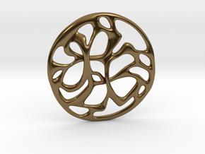 Cobwebs Pendant in Polished Bronze