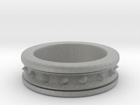 Spike Ring in Metallic Plastic