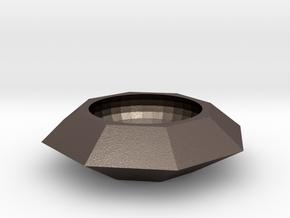 Diamond Jewellery Box in Polished Bronzed Silver Steel