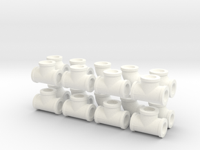 "7/8"" scale pipe fittings: 1 1/2"" pipe in White Processed Versatile Plastic"