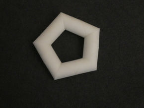 ALBIS RING in White Processed Versatile Plastic