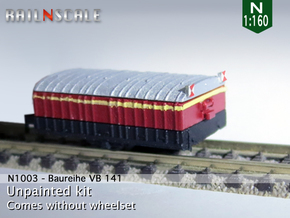 VB 141 Anhänger (N 1:160) in Smooth Fine Detail Plastic