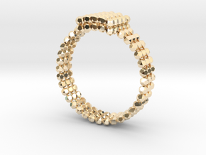 Spheroid ring in 14k Gold Plated Brass