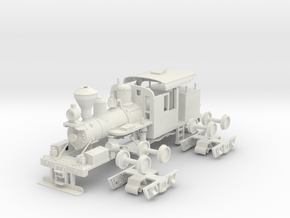 PBR 25 Ton Climax #1694(1:30 Scale) in White Natural Versatile Plastic