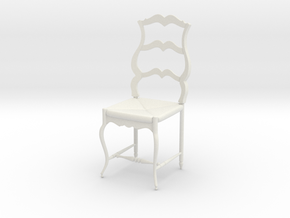 French Chair Pierre Scale 1:24 in White Natural Versatile Plastic