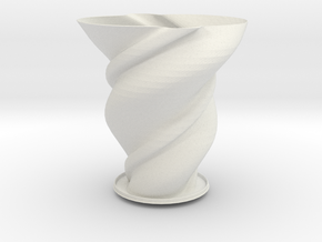 "Vase 'Big Anuya' - 25cm / 10"" in White Natural Versatile Plastic"