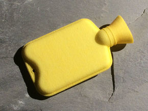 Hot Water Bottle Large in Yellow Processed Versatile Plastic