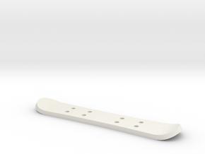 Tiny Snowboard in White Natural Versatile Plastic