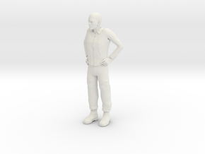Guy standing 1/29 scale in White Strong & Flexible
