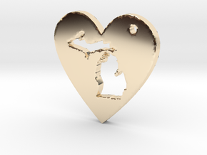 I love Michigan Necklace in 14k Gold Plated Brass