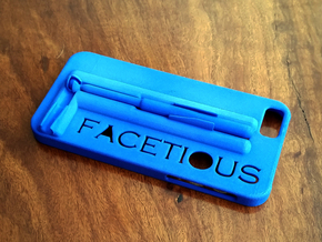 "IPhone 6 Case with ""selfie steady stick"" in Blue Strong & Flexible Polished"