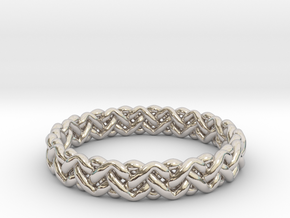 Woven Ring in Rhodium Plated