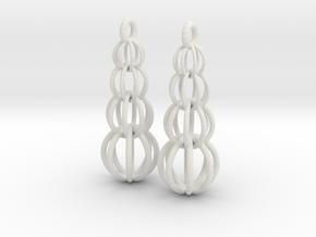 Earrings in White Natural Versatile Plastic