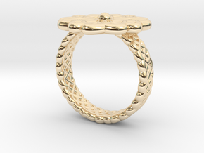 Floral Ring - Size 7 in 14K Yellow Gold